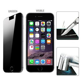 privacy mirror film Australia - Display LCD 9H Privacy Anti-Spy Protective Film for iphone 5 5s 6 6S 7 Tempered Glass Screen Protector Anti Spy Pelicula De Vidro 50pcs lot
