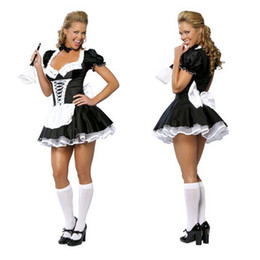 Free shipping!! Late Nite Maid Sexy Halloween Costumes Party costume Women Cosplay Dress Wholesale Retail 2407