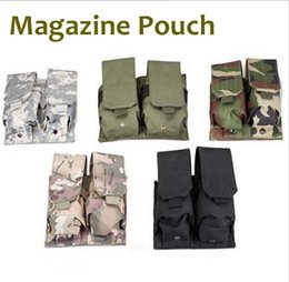 ammo pouches 2019 - MOLLE PALS Double Stack Rifle Magazine Mag Top Flap Pouch holster for M4 M16 5.56MM Tactical Airsoft Paintball Shooting