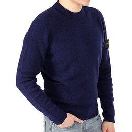 England T Shirts UK - New England fashion 2019 winter rhythm heating o-uk Italian men's T-shirt single yarn throw stone circle round neck sweater 7 color size S-2