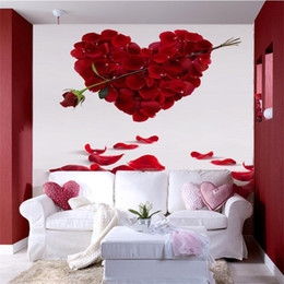 3d stereo sound 2019 - Wholesale- Custom Photo Wallpaper 3D Stereo Large Murals Cupid Sword Rose Art living room sofa bedroom flash silver clot