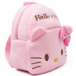 cute kindergarten backpack UK - Plush Backpacks Cartoon Kids School Bags Toys Pink Hello Kitty Cute Animal Lovely Kindergarten Children Storage Box Doll