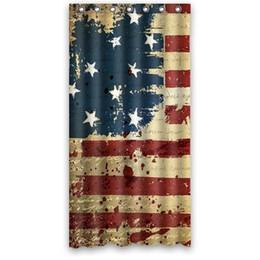 $enCountryForm.capitalKeyWord UK - Customs 36 48 60 66 72 80 (W) x 72 (H) Inch Shower Curtain Fabric American Flag Polyester Fabric Bath Curtain