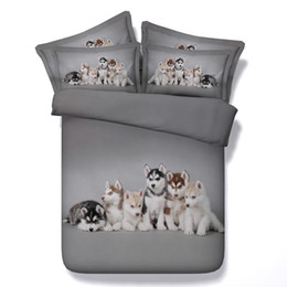 $enCountryForm.capitalKeyWord Canada - 4 Styles Pink Dog Husky 3D Printed Bedding Sets Twin Full Queen King Size Bedclothes Duvet Covers Pillowcase Comforter Cat Animal Pet Design