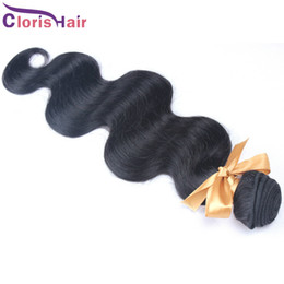 Cheap Remi Hair Weave UK - Sample 1 Piece Wet Wavy Unprocessed Brazilian Body Wave Human Hair Extensions Weft Cheap Remi Weave Bundles 100g Natural Black