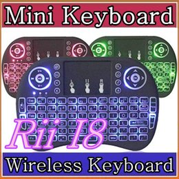 $enCountryForm.capitalKeyWord Canada - 30X Rii I8 Mini Keyboard Wireless Backlight RED Green Blue Light Air Mouse Remote With Touchpad Handheld For T95 M8S S905X S905 TV BOX A-FS