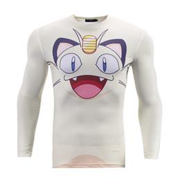 $enCountryForm.capitalKeyWord Australia - Mens Compression Shirts 3D White Base Cartoon Printed Long Sleeve T-shirt Fitness Male Crossfit Tight Skin Brand Tee BL-050