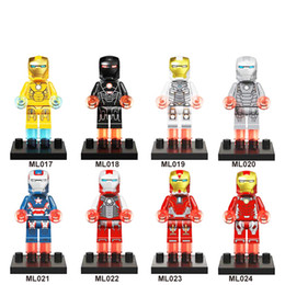 iron man block figure Canada - DHL 60sets Mini Super Heroes figure Iron Man Building Blocks Toys MR128