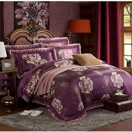 70 pure silk wedding marriage bedding sethome textile king size bed cover flat sheet pillowcases bs004