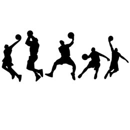 Cars Different UK - Different Styles Basketball Players Dribble Jump Shot Dunk Dynamic Art Graphics Car Stickers for Car Decor Vinyl Decal JDM
