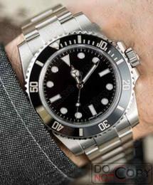 8677ddc3cb75 2019 Negro AAA Marca de lujo superior Cerámica Bisel Hombre Mecánico de  acero inoxidable Movimiento automático Reloj Deportes Relojes automáticos  Relojes de ...