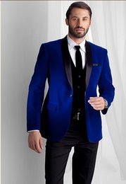 Velvet Blazer Blue Online | Blue Velvet Mens Blazer for Sale