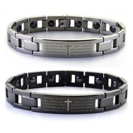 $enCountryForm.capitalKeyWord UK - NEWEST HOT arrived Fashion The Black Cross Bracelet and jewelry inlaid magnet Scripture lovers titanium germanium stone care jewelry