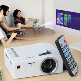 Original Unic UC18 Mini LED Projetor Portátil Projetores de Bolso Multi-media Player Home Theater Jogo Suporta HDMI USB TF Beamer venda por atacado