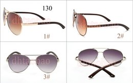 Discount wood metal sunglasses - New Hot Men Fashion Retro Frog Wood Grain Metal Sunglasses Riding Outdoors Beach SunGlasses Driving Glasses Goggle 3 Col