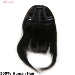 Chinese  2017 Human Hair Bangs Fringe With 3 Clips In Human Hair Extensions 25g Only One Piece free shipping manufacturers