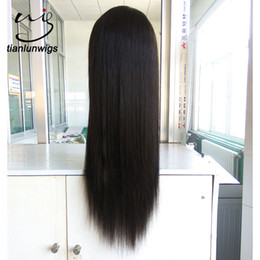 lace front wig human hair 28 Australia - Full Lace Human Hair Wig Virgin Brazilian Hair Unprocessed Silk Straight Lace Front Wigs Full Lace Wig With Baby Hair