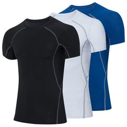 $enCountryForm.capitalKeyWord UK - Mens Gyms Clothing Fitness Compression Base Layers Under Tops T-shirt Thermal Tees Top High Flexibility Skins Gear Wear Sports Vest