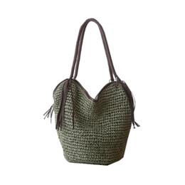 Knitting Travel Large Beach Bags Women Tote Tassel Designer Summer Straw  Handbag Quality Beach Bag Big Boho Shopping Bag 25dda65f50