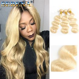 $enCountryForm.capitalKeyWord Australia - Platinum Blonde Brazilian Virgin Hair Silk Body Wave 613# Blonde Brazilian Hair 3 Bundle Deals Unprocessed Virgin Human Hair Blonde Weave