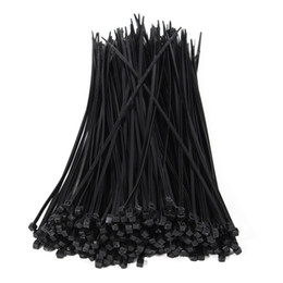 cable ties tool Australia - 250Pcs pack 4*250MM 4*300MM 4*350MM 3mm Black Color Factory Standard Self-locking Plastic Nylon Cable Ties, Wire Zip Tie