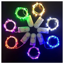 $enCountryForm.capitalKeyWord NZ - Free shipping via DHL CR2032 button cell Xmas gift party decoration LED 2M 20leds copper wire fairy string waterproof IP65 LED strip