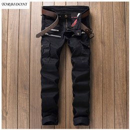 f6a704576f9 Wholesale- 2017 Fashion Patchwork Jeans Men Straight Slim Biker Jeans  Famous Brand Clothing Design Denim Jeans Multi Pockets and Zippers