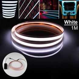 $enCountryForm.capitalKeyWord NZ - 100cm neon glow tape EL cold light RGB stirp flexible rope battery DC3V 5V USB 12V Car kit flashing warnning lights