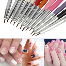 Discount colourful art paintings 2017 colourful art paintings on wholesale fashion new arrival 12pcs colourful nail art painting drawing pen polish brush kits diy pro hot selling beauty health prinsesfo Images