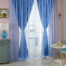 nice curtains for living room. 100 x 200cm Blue Shimmery Circle pattern Printed fashionable Curtain Voile  Door Window Sheer beautiful for Living Room Beautiful Curtains For Online