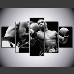 Picture Boxes Canada - 5 Pcs Set HD Printed Boxing Player Star Painting Canvas Print room decor print poster picture canvas Free shipping x365