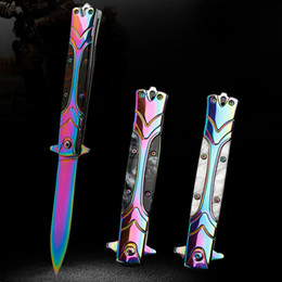 Jackknife Tool Australia - 3 color Outdoor Knives High Hardness Camping Hunting Folding Knife Practice Tactical Jackknife Survival EDC Tools Machete