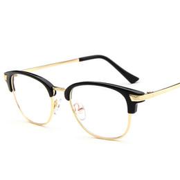 eaf96333942 decorative eyeglass frames 2019 - Wholesale- Unisex 2017 Round Semi-Rim  Eyeglasses Fashion Glasses