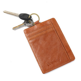 card holder for men and women genuine leather credit card holder wallet with key ring moq 3 piece - Card Holder With Keyring