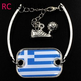 Cup Chain Settings Australia - 41# Fashion Alloy Bracelet World Cup Greece flag bracelet quick sell through the explosion can be customized