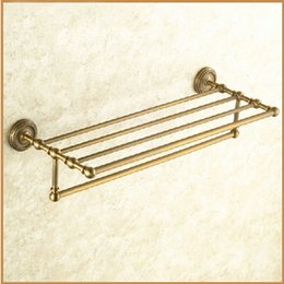 newly retro double towel bars antique brass finishing towel holdertowel rackclassic bathroom accessories set nz14161