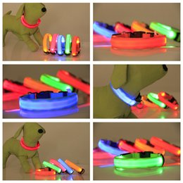 Fiber Led NZ - Double exposure light plain collar LED large and small dog dog pet fiber