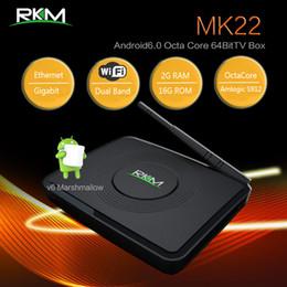 Discount mini pc octa - RKM MK22 Android 6.0 TV Box Amlogic S912 Octa Core 2G 16G Mini PC Bluetooth Dual Wifi 3D 4K H.265 1000M Gigabit LAN Smar