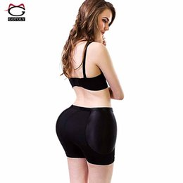 Butin De Renforcement De La Hanche Pas Cher-Wholesale- Plus Size Butt Lift rembourré Shapewear Shapewear Enhancer Butt Lifter avec pantalons anti-tummy Booty Slim Body Shaper Pelvis Briefs