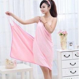 Peignoir Sexy Pas Cher-Serviette de bain absorbant usable Fast Dry Magic Femmes Beach Spa Rideaux Jupe de bain Lady Wearable Drying Girl Dress Spa Sexy Microfiber