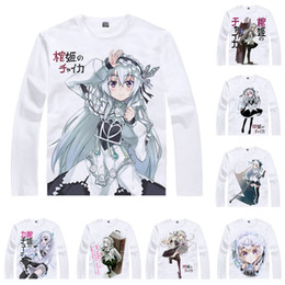 T Shirts Style Australia - Anime Shirt Chaika - The Coffin Princess T-Shirts Multi-style Long Sleeve White-haired Wizard Chaika Trabant Cosplay Motivs Kawaii Shirts