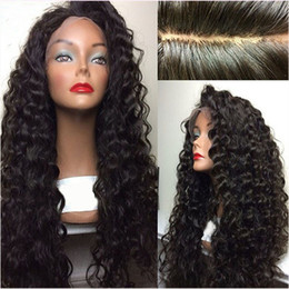european curly lace wig Canada - 8A Full Lace Human Hair Wigs Kinky Curly For Black WomenBrazilian Virgin Hair Lace Front Wigs Bleached Knots 150Density Glueless