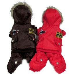 Wholesale Hot Winter Dog Pet Coat Clothes Padded Hoodie Jumpsuit Pants Costumes XS XL WX