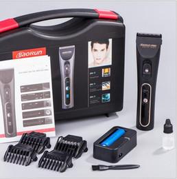 Black Cutters Canada - professional LCD show electric adult hair clipper trimmer black ceramic razor hair cutter machine barber tool barbershop scissor