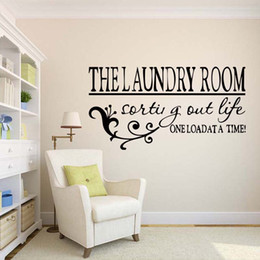 For The Laundry Room One Load At A Time Wall Sticker Decal Removable Home  Decor Bedroom Sitting Room Vinyl Decal DIY Part 65