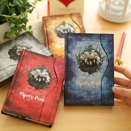 $enCountryForm.capitalKeyWord NZ - Harry Potter Notebook Retro Style Magic Magnet Diary Book Fans Collection Gift For Child Student 4 Colors 8 4lg F R