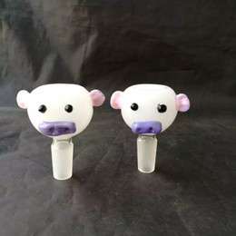 Wholesale best pigs online – design Cute little pig bubble glass bongs accessories Glass Smoking Pipes colorful mini multi colors Hand Pipes Best Spoon glass Pipes