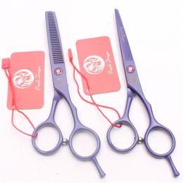 "Right Handed Hair Cutting Shears Australia - Z1013 5.5"" 16cm Japan Purple Dragon High Quality Professional Human Hair Scissors Barbers' Scissors Cutting Thinning Shears Salon Style Tool"
