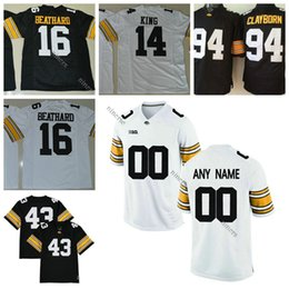 7c7071a9f ... Iowa Hawkeyes Jersey Custom Any Name Number Akrum Wadley James Butler  Toren Young Drake Kulick Black ...