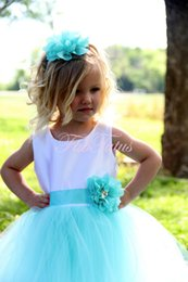 Wholesale 2018 Simple Tulle Flower Girls Little Girls Pageant Dresses Tulle Neck Beaded Crystals Corset Back Flower Girls Birthday Princess Dresses